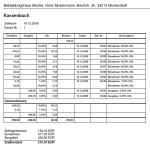 Kassen Software, Kassenbuch